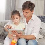 親子とタブレット