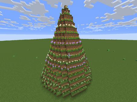 光る花のツリー:MCブロックビルダー作例