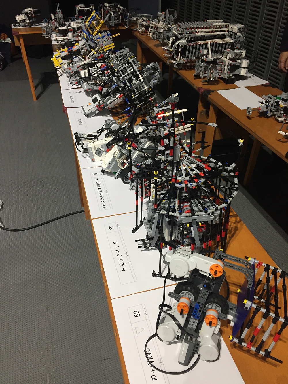 宇宙エレベータロボット競技会車検風景
