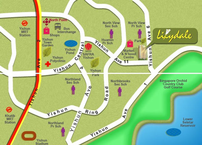 Lilydale Location Map