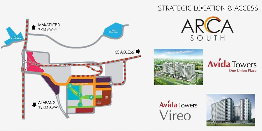 Avida Towers Vireo Location Map