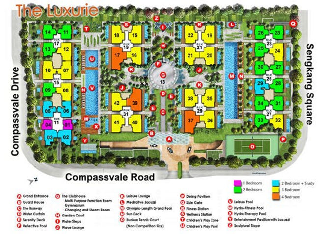 The Luxurie Site Plan