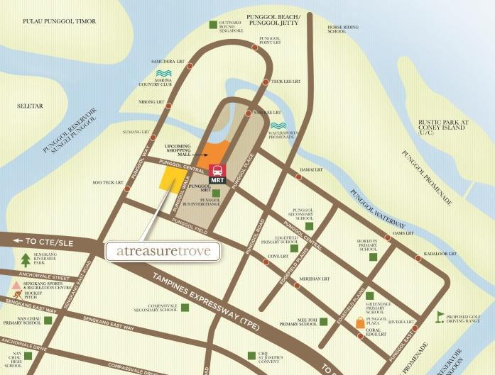A Treasure Trove Location Map