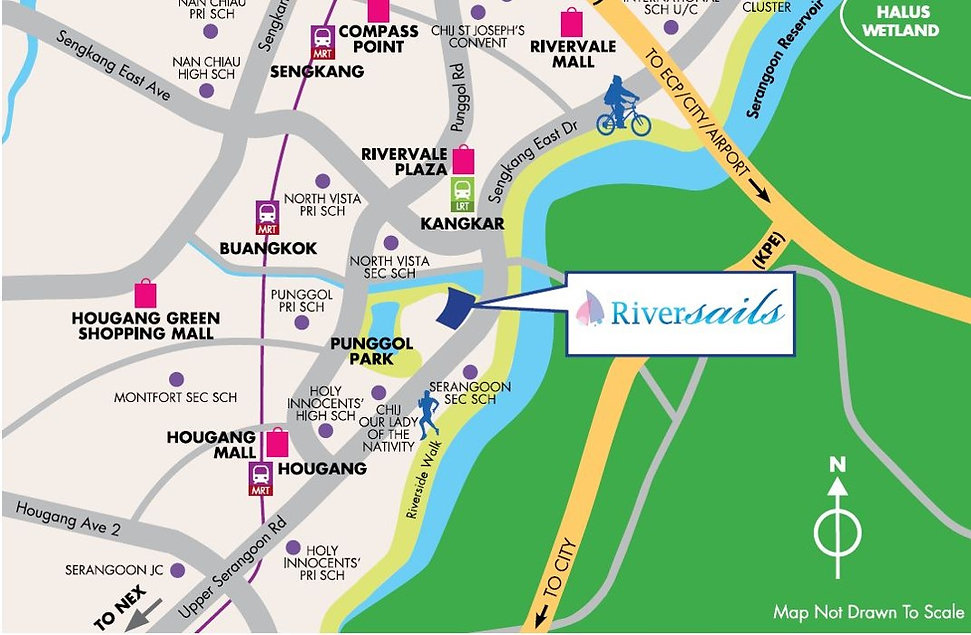 Riversails Location Map