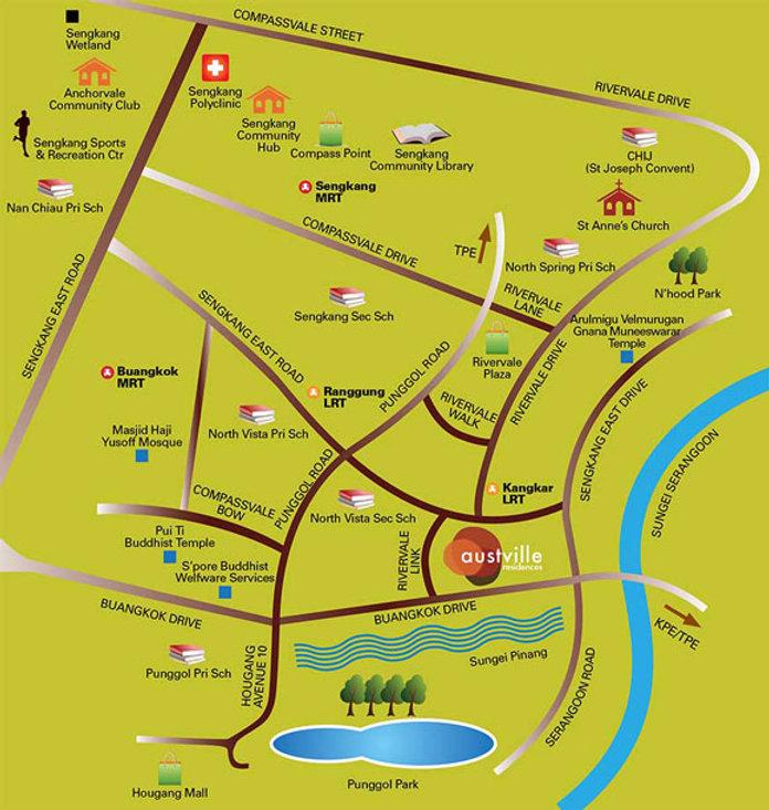 Austville Residences Location Map