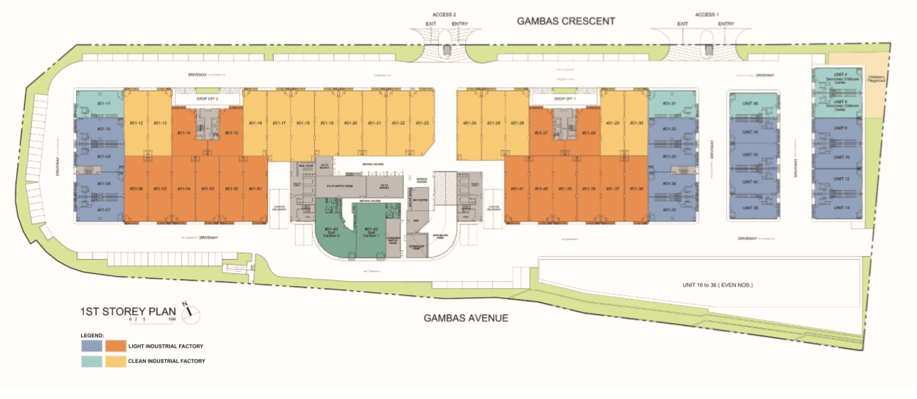 Nordcom II - 1st Storey Plan