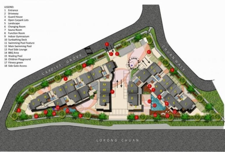 Cardiff Residence Site Plan