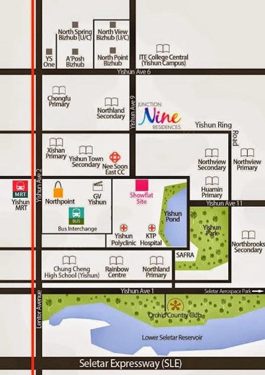 Nine Residences Location Map
