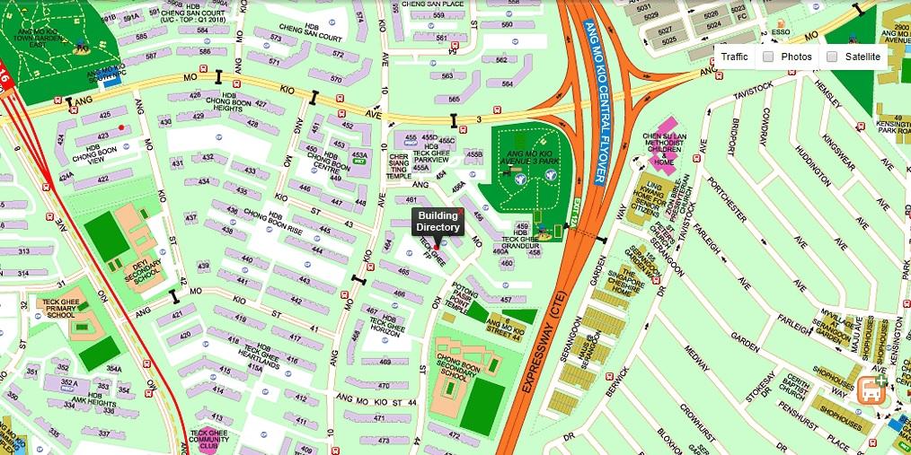 463 Ang Mo Kio Map