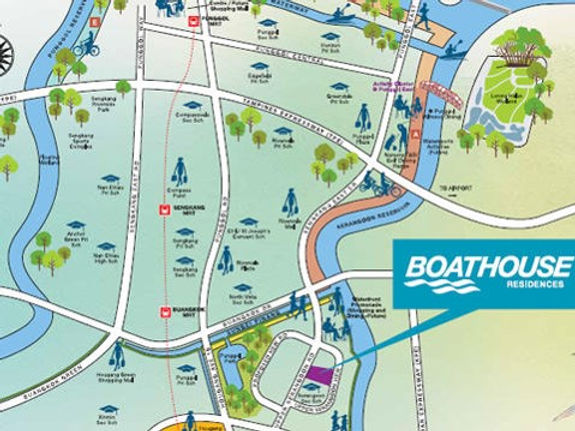 Boathouse Residences Location Map