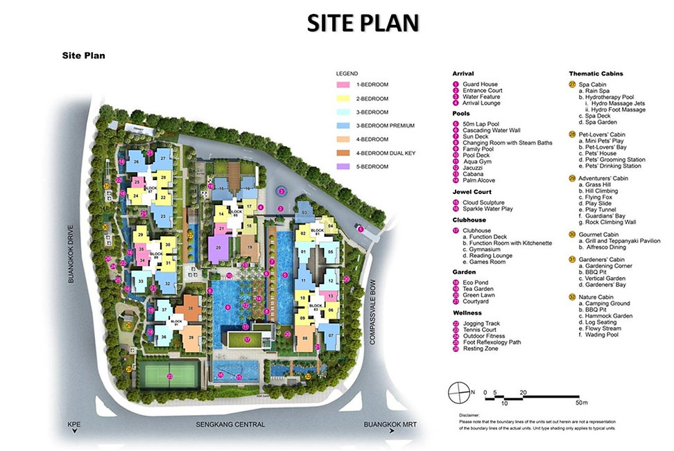 Jewel @ Buangkok Site Plan