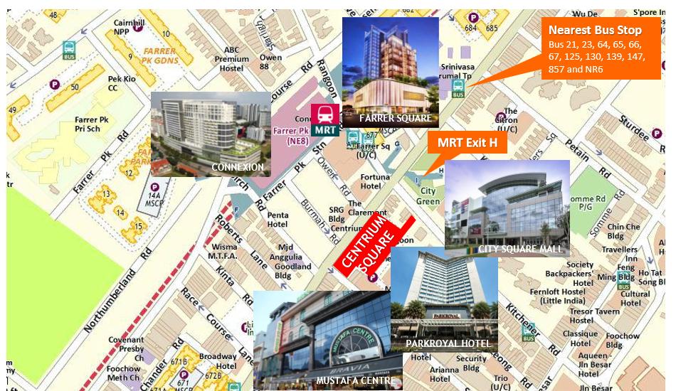 Centrium Square Location Map