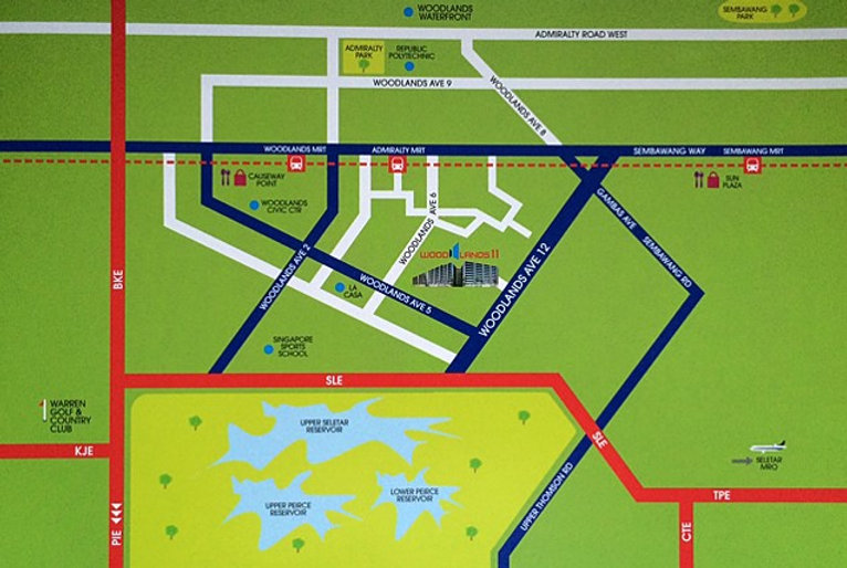 Woodlands 11 Location Map