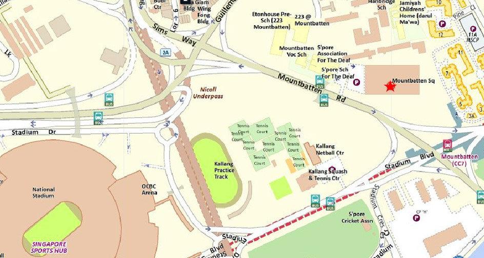 Mountbatten Square Location Map
