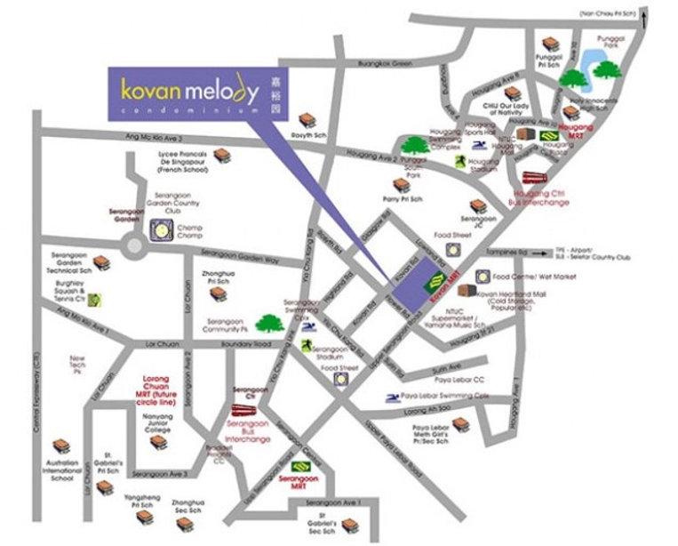 kovan Melody Location Map
