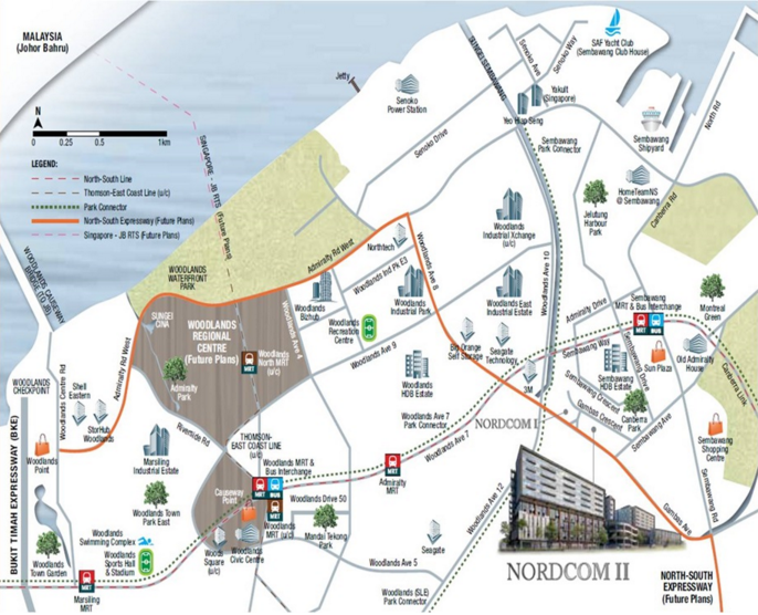 Nordcom II Location Map