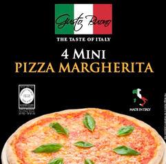 4 Mini Pizza Margherita