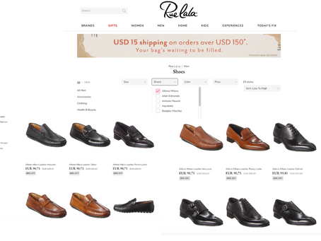 Italian Handmade Shoemaker, Alfonsi Milano expand in USA with Rue La La