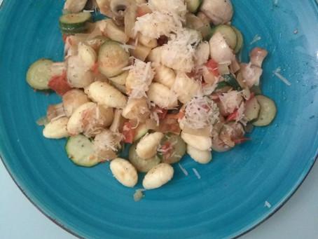 Gnocchi Sallad with Mushrooms :-)