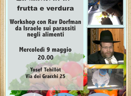 9 May event - Rav Dorfman - Milano - Kosher work Shop