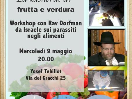 9 May event - Rav Dorfman - Milano - Kosher work Shop