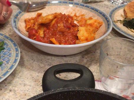 Yummy ravioli with Tomato sauce