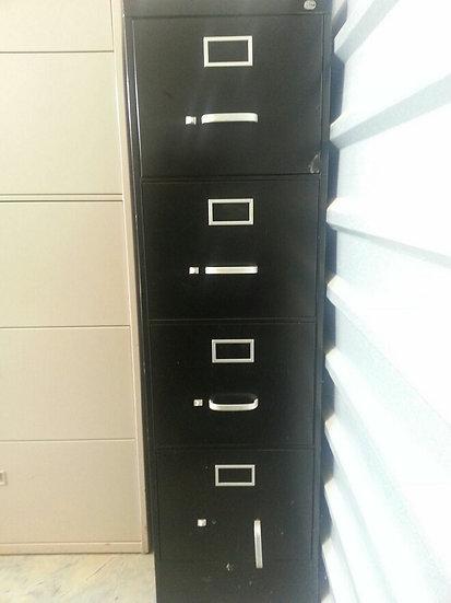 """Slim 4 Draw Filing Cabinet"" (BLACK)"
