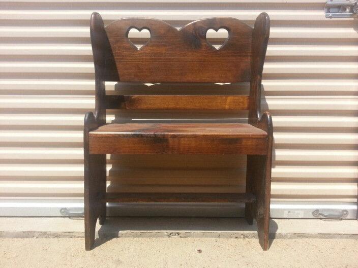 """Wooden Love Bench"""