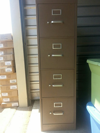 """Slim 4 Draw Filing Cabinet"" (TAN)"