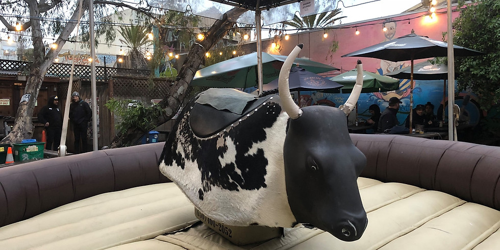 Bull Ride Competition In Beer Garden with Cazadores (1)
