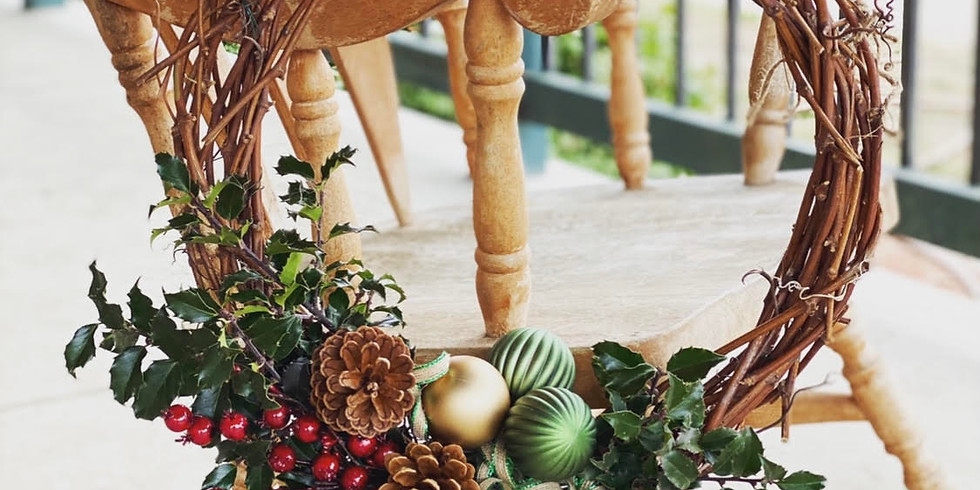 Holiday Grapevine Wreath Making Workshop + Wine