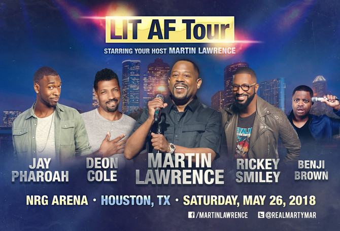 Martin Lawrence LIT AF Tour at NRG Arena in Houston Sat. May 26, 2018