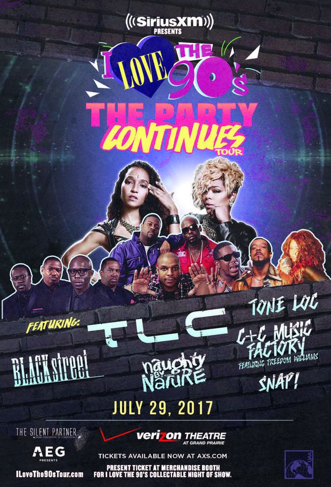 I Love the 90s The Party Continues Tour TLC with special guests Sat, July 29th