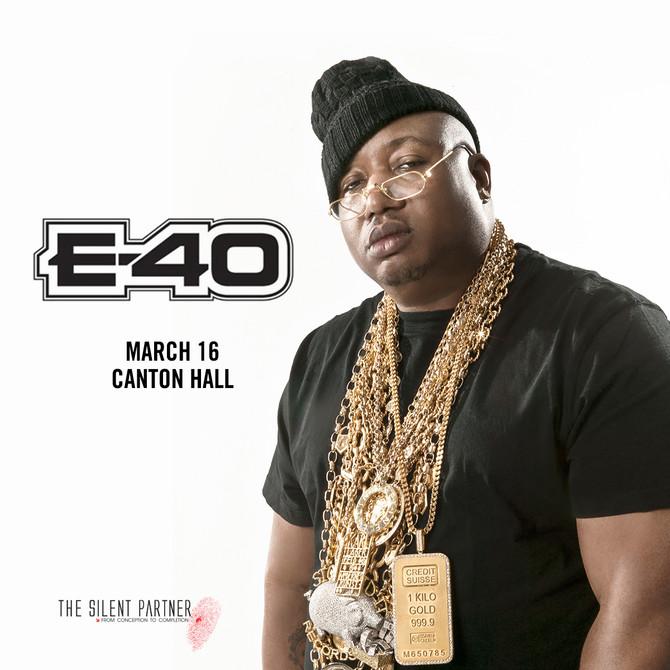E-40 in Dallas Sat., March 16, 2019 at Canton Hall
