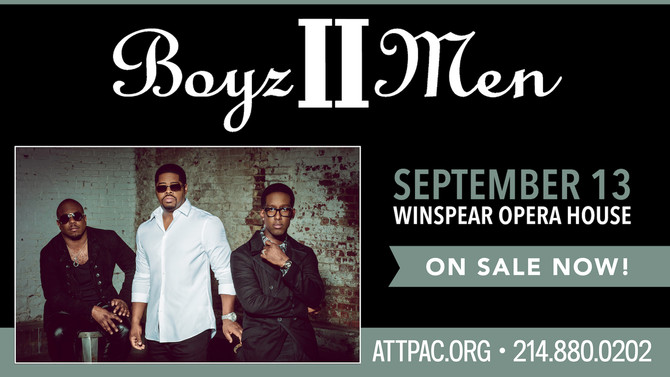 Boyz II Men Live Thurs., Sept 13, 2018 at AT&T Performing Arts Center, Winspear Opera House