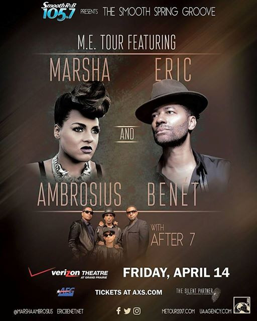 105.7 & The Silent Partner Presents Marsha Ambrosius, Eric Benet & After 7 #METour2017