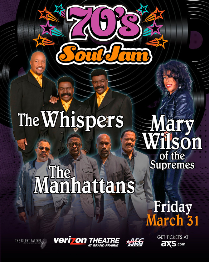 70's SoulJam f/ The Whispers, Mary Wilson of the Supremes + The Manhattans - Fri, March 24, 2017