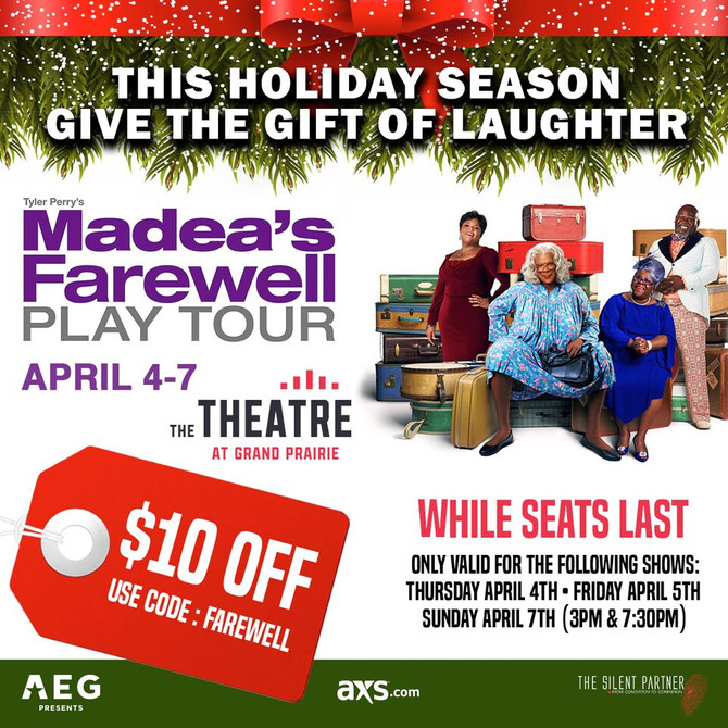 This Holiday Season Give The Gift of Laughter - Madea's Farewell Tour $10 Off Special Code Insid