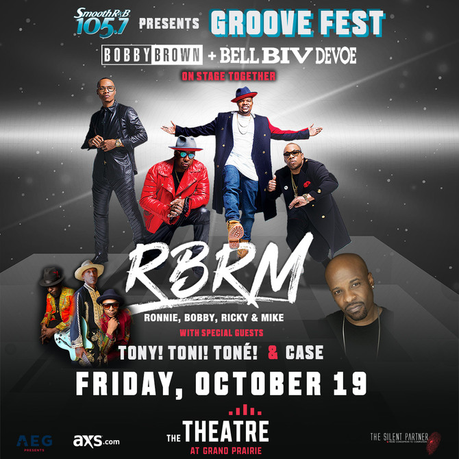 105.7 presents Groove Fest with Bobby Brown & Bell Biv Devoe on stage together #RBRM Ronnie, Bob