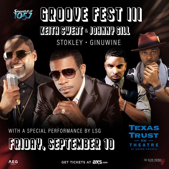 Groove Fest III Sept 10th at TXCU Theatre at Grand Prairie