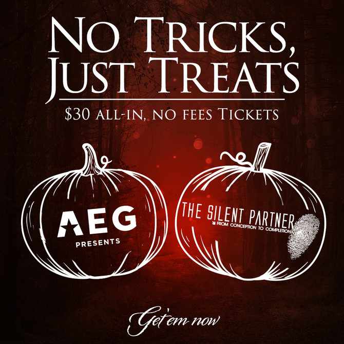 Use Code: Treats to Get $30 Tickets Today (All-In) at AXS.com