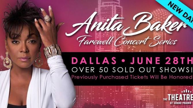 Anita Baker Live Friday, June 28th. New Date.