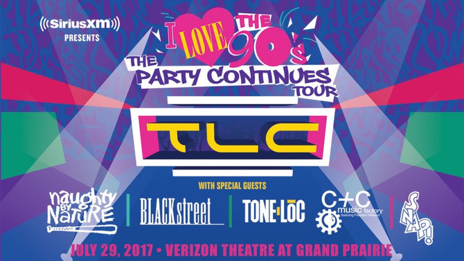 """I Love the 90s """"The Party Continues"""" Tour with TLC & special guests Naughty By Nature,"""