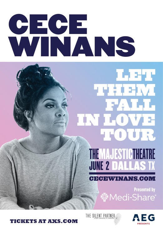 """CeCe Winans """"Let Them Fall in Love Tour"""" Fri, June 2, 2017, On Sale Now!"""