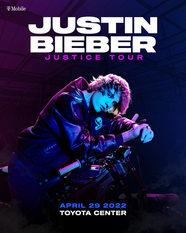 Justin Bieber The Justice Tour at Toyota Center in Houston   April 29, 2022