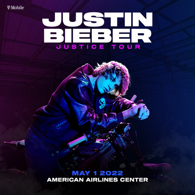 Justin Bieber The Justice Tour at American Airlines in Dallas   May 1, 2022