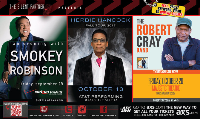 Tickets On Sale: Smokey Robinson, Herbie Hancock and Robert Cray Band