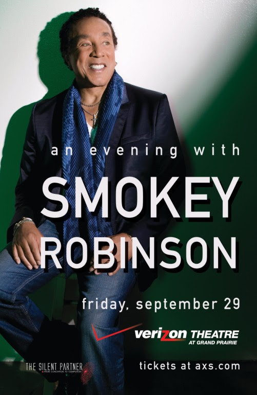 The Legendary Smokey Robinson is coming to the Verizon Theatre  Fri, September 29, 2017