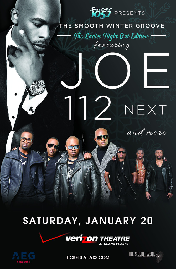 Smooth R&B 105.7 Presents The Smooth Winter Groove featuring Joe with 112 and Next Sat, Jan 20,