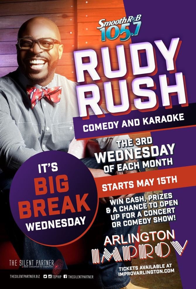 105.7 FM RUDY RUSH COMEDY AND KARAOKE STARTING MAY 15TH